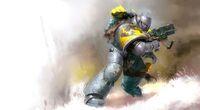 Marines lobos espaciales guerrero servoarmadura