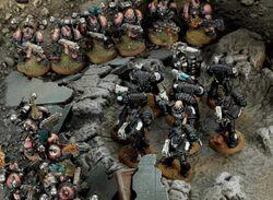 Diorama Manos Hierro vs Hijos Emperador Emboscada Skarvus