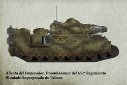 Guardia Imperial tanque superpesado doomhammer tallarn