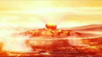 Torpedo ciclónico explotando