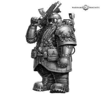 Grendl Grendlsen cazarrecompensas Squat Necromunda Underhive ilustración