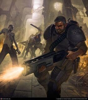 Guardia imperial plaga zombie