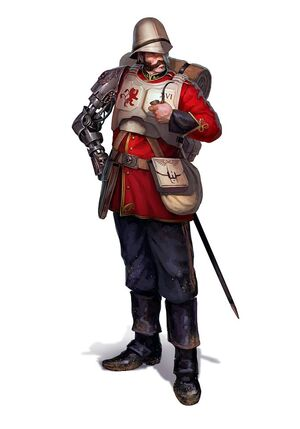 Praetorianos Guardia Imperial brazo biónico