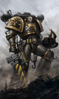 Caos guerreros de hierro pistola espada sierra
