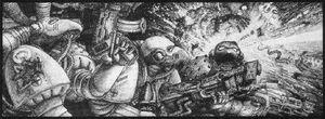Devoradores de Carne Carnívoros Tony Hough ilustración