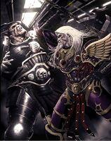 Lucha Fulgrim vs Ferrus Manus en la Ferrum