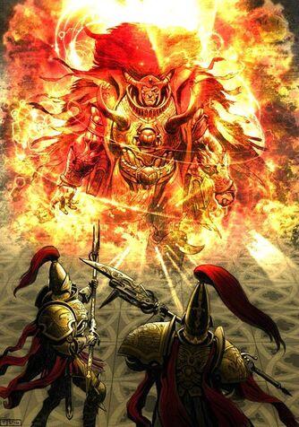 Magnus Trono Dorado Terra Herejía