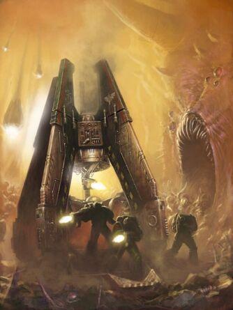 Marines angeles oscuros capsula desembarco mundo demoniaco