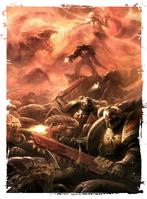 Marines compañía de la muerte vs tiranidos Leviathan