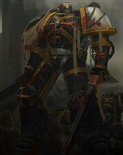 Templario Negro con dos Espadas Sierra