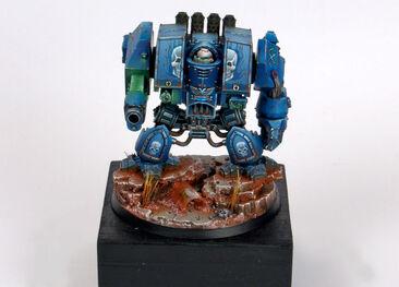 Dreadnought miniatura guadañas del Emperador