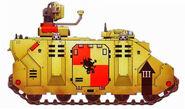 Grifos Aullantes Rhino Mando Damocles Pacificacion Dennar IV Tercera Compañia Marines Espaciales Astartes Wikihammer
