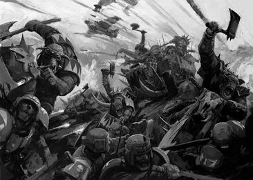 Waaagh orko batalla guardia imperial warhammer 40k wikihammer