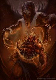 Caos tzeentch demonio transformacion wikihammer