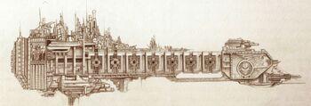 Contrador Barcaza de Batalla Guerreros de Hierro Forge World ilustración