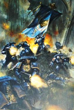 Escuadra Mando Marines Espaciales Ultramarines Galatan Warhammer 40k Wikihammer