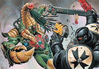 Eldar picadura del escorpión asesino wikihammer