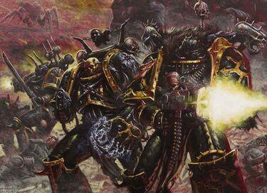 Caos legion negra marine del caos 01 combate