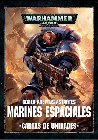 Cartas de unidades Warhammer 40k marines espaciales