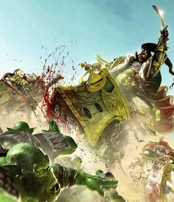 Jaghatai Khan combatiendo a los Orkos