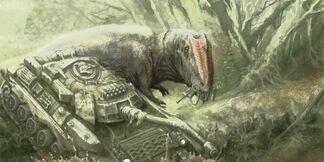 Planeta cretacia Gigantosoaurus vs Tank