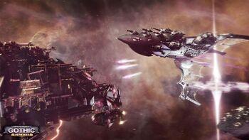 Eldar vs orkos espacio
