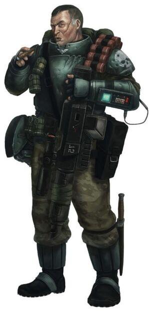Gi sargento rifle laser sobrecargado