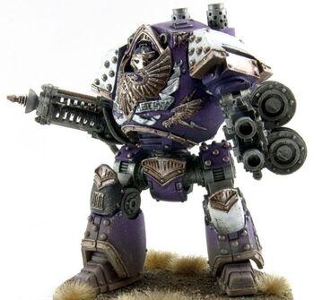 Rayo de Conversion Dreadnought Contemptor Hijos del Emperador Gran Cruzada Wikihammer
