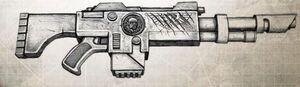 Rifle Laser Estandar Tropas Dominios Severianos Frente de la Frontera Exterior Wikihammer