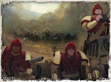 Gi incursores tallarn asaltando posicion en Caemos