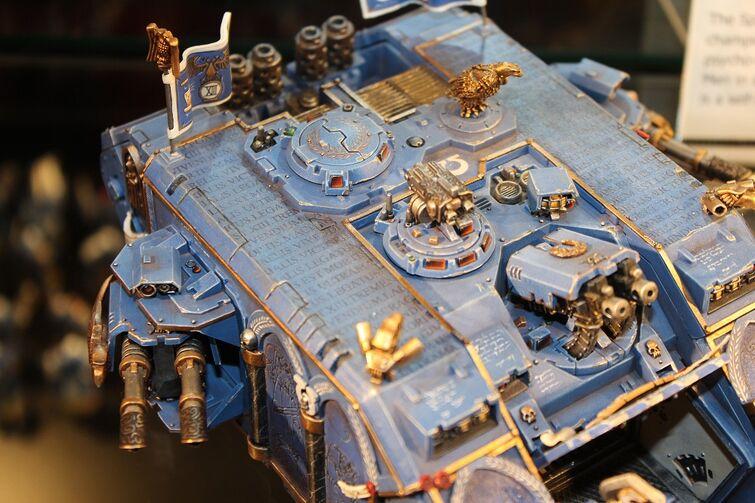 Warhammer World Nottingham Wikihammer Land Raider Ultramarines Propainted