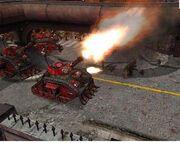 Orkos tanque zaqueado disparo