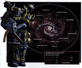 Mapa galaxia incursiones marines del caos