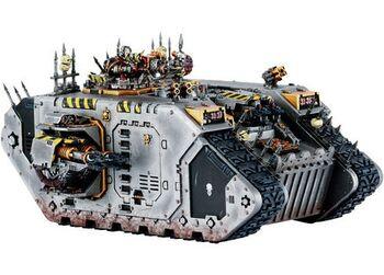 Miniatura caos Land Raider guerreros hierro