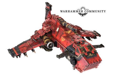 Thunderhawk Ángeles Sangrientos Forge World miniatura