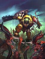 Orkos meganoble luna malvada vs desangradores khorne