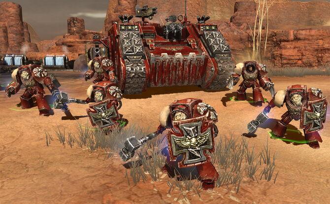 Exterminadores Land Raider Dawn of War 2 Retribution Marines Espaciales
