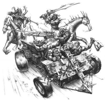 Mutantes atacando a Orkos Gorkamorka