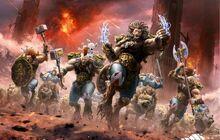 Los Lobos de la Muerte cargan en combate