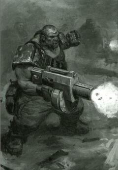 Ogrete con rifle destripador