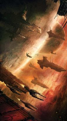 Flota de aeronaves del Caos warhammer