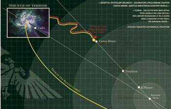 Mapa cometa Keeler Wikihammer 40K