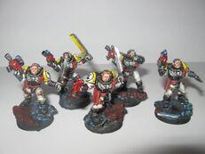 Escuadra de exploradores puños
