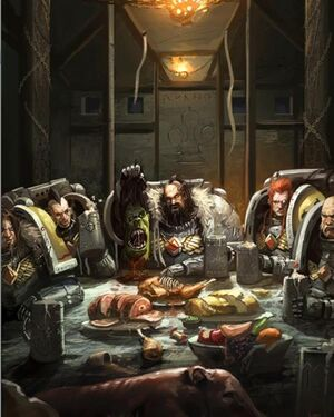 Lobos Espaciales 40k Space Wolves Banquete Comer