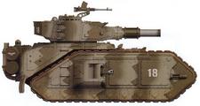 Macharius del 11º Regimiento de Tanques de los Korps de la Muerte de Krieg