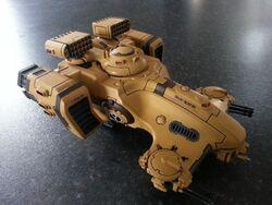 Tanque Cabezamartillo con dos Capsulas de Misiles Acoplados-Gemelos y Rastreador de Velocidad.