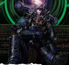 Caos legion alfa marine herido necrones