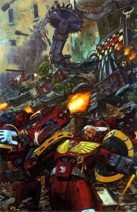 Ángeles Sangrientos Orkos batalla warhammer 40k