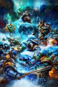 Caos legion alfa vs lobos espaciales