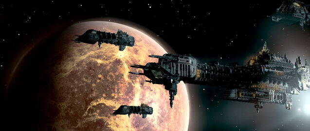 Flota Orbita Barcaza de Batalla Adeptus Astartes Fragata Pesada Clase Turbulencia Wikihammer